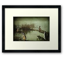 The Penguin Patch Framed Print