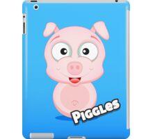 Farm Animal Fun Games - Piggles - Blue Gradient iPad Case/Skin