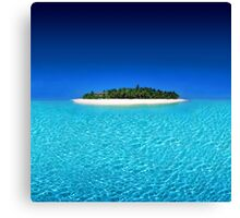 Exotic Private Island  Canvas Print