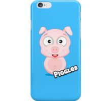 Farm Animal Fun Games - Piggles - Blue iPhone Case/Skin