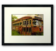 Derelict Trolley_2 Framed Print
