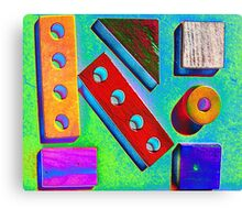 Blocks at Kindy Canvas Print