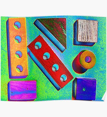 Blocks at Kindy Poster