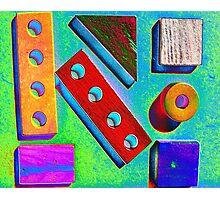 Blocks at Kindy Photographic Print