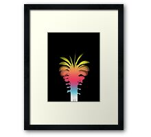 Rainbow Summery Palm Tree Framed Print
