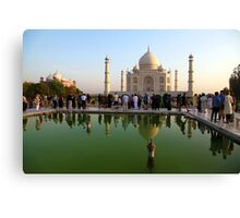Tourists and Reflections Canvas Print