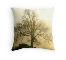 new life in winter's dying days Throw Pillow