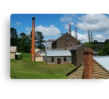 5 Chimney Stacks,Anderson's Mill,Smeaton, Victoria Canvas Print