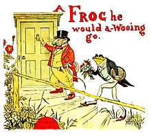 A Frog He Would A Wooing Go Photographic Print