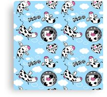 Little cute cows Canvas Print