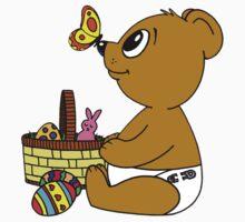 Baby Bear with Easter Basket by SpikeysStudio