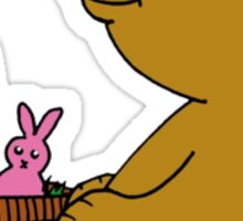 Baby Bear with Easter Basket Sticker