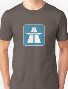 Autobahn tee on blue T-Shirt