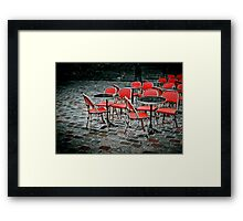 Chairs in Montmartre Framed Print