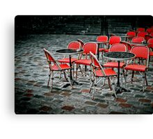 Chairs in Montmartre Canvas Print