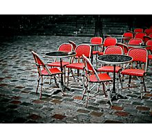 Chairs in Montmartre Photographic Print