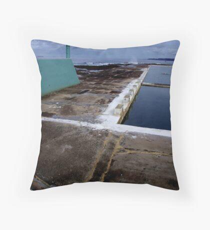 Newcastle Ocean Baths Throw Pillow