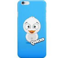 Farm Animal Fun Games - Quacks - Blue Gradient iPhone Case/Skin