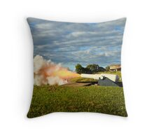 Number 5 Cannon Throw Pillow