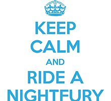 KEEP CALM and RIDE A NIGHTFURY by candymoondesign