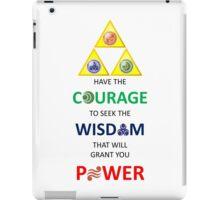 Legend of Zelda Triforce with Goddess Symbols (portrait) iPad Case/Skin