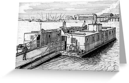 179 - HIGH FERRY, BLYTH - DAVE EDWARDS - INK 1990 by BLYTHART