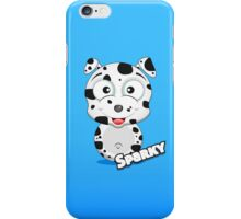 Farm Animal Fun Games - Sparky - Blue Gradient iPhone Case/Skin