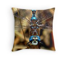 Smiley the Blue – eyed  Darner  Throw Pillow