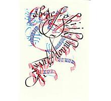 Calligradoodle  ( Alphabet ) Photographic Print
