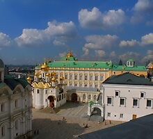 Kremlin Cathedral Square seen from Ivan the Great Bell tower by Jon Ayres