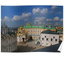 Kremlin Cathedral Square seen from Ivan the Great Bell tower Poster