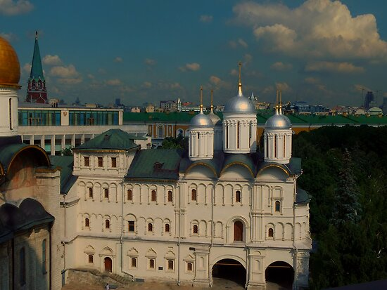Patriarch Palace and Church of the Tweleve Apostles as seen from the Ivan the Great Bell Tower by Jon Ayres