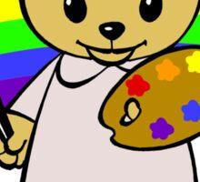 Little Artist Bear Sticker