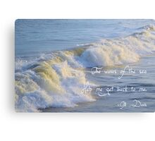 The Waves Of The Sea Canvas Print