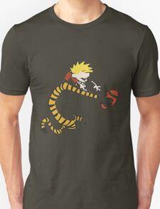calvin and hobbes football T-Shirt