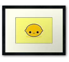 Cute lemon Framed Print