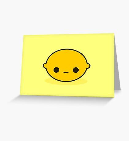 Cute lemon Greeting Card