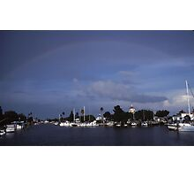 Rainbow on the bay Photographic Print