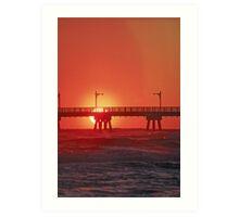 Panama City Pier at sunset Art Print
