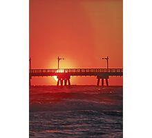 Panama City Pier at sunset Photographic Print