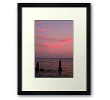Sunset at Johns Pass Framed Print