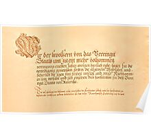 Der Constitution Preamble Poster