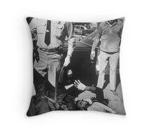 Please don't shoot me again Throw Pillow