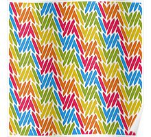Colorful paint strokes Poster