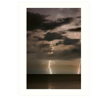 Coastal Lightning Art Print