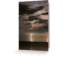 Coastal Lightning Greeting Card