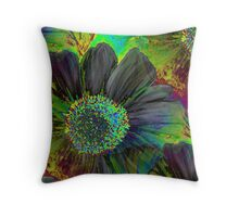 Kodachrome Floral Throw Pillow