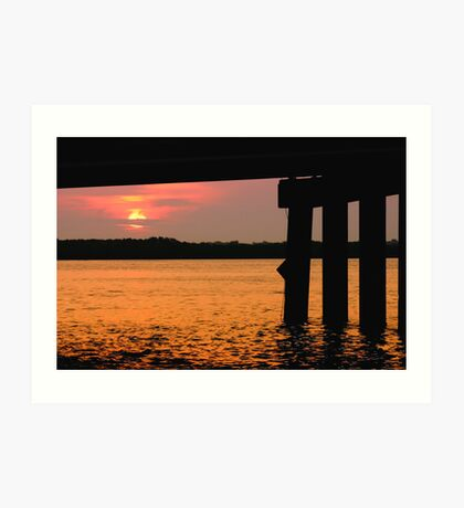 Johns Pass at Sunrise. Art Print