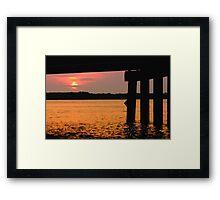 Johns Pass at Sunrise. Framed Print