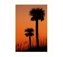 Twin palms Art Print
